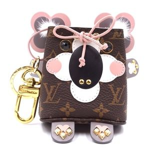 Monogram Multicolor Lv Key Ring Chain Holder Charm